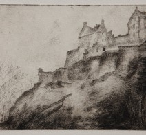 Edinburgh Castle, etching, 2012