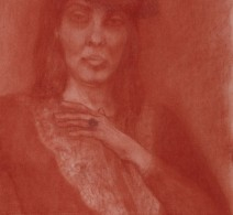 Self-portrait in red chalk, 2013