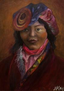 Tibetan woman, 2011